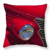 Red 1938 Chevy Coupe Throw Pillow