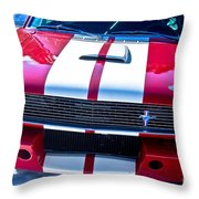 Red 1966 Mustang Shelby Throw Pillow