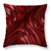 Red Abstract Texture Throw Pillow