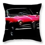 Red Alfa Romeo 1600 Giulia Spider Throw Pillow