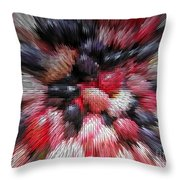 Red And Black Explosion #01 Throw Pillow