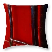 Red And Black Train Ladder Throw Pillow