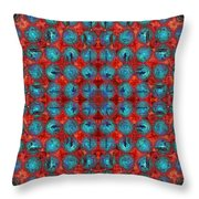 Red And Blue Abstract Throw Pillow