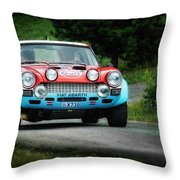 Red And Blue Fiat Abarth Throw Pillow