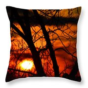 Red And Gold Throw Pillow