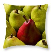 Red And Green Pears  Throw Pillow