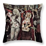Red And Her Crew  Throw Pillow
