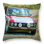 Red And White Lancia Throw Pillow