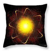 Red And Yellow Star Throw Pillow