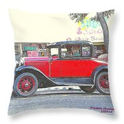 Red Antique Rumble Seater Throw Pillow