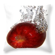 Red Apple Dropped Throw Pillow