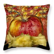 Red Apples And Core Throw Pillow