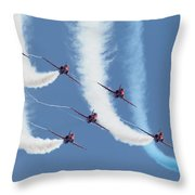 Red Arrows - Formation Magic Throw Pillow