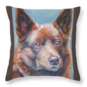 red Australian Kelpie Throw Pillow