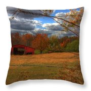 Red Barn1 Throw Pillow