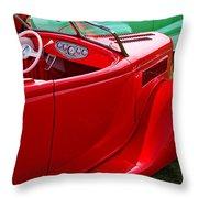 Red Beautiful Car Throw Pillow
