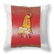 Red Box Throw Pillow