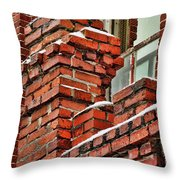 Red Brick Mill Throw Pillow