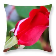 Red Bud Throw Pillow