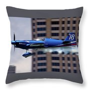 Red Bull Racer Throw Pillow