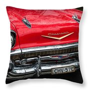 Red Chevvy Throw Pillow