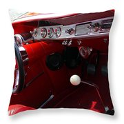 Red Chevy Impala Throw Pillow