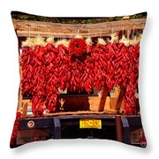 Red Chili Ristra Truck Throw Pillow