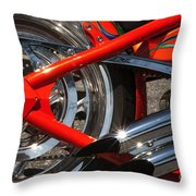 Red Chopper Detail Throw Pillow