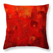 Red City 2 Throw Pillow