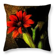 Red Coneflower Throw Pillow