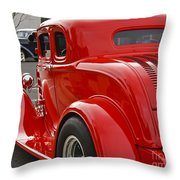 Red Coupe Throw Pillow