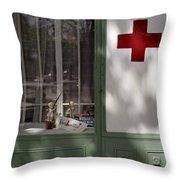 Red Cross. Belgrade. Serbia Throw Pillow