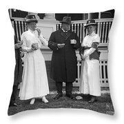 Red Cross Luncheon, 1917 Throw Pillow