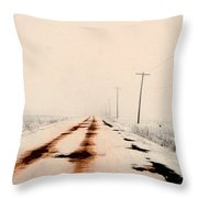 Red Dirt Snow Throw Pillow