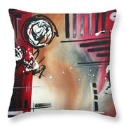 Red Divinity By Madart Throw Pillow