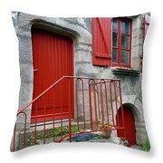 Red Door In Laroche Bernard Throw Pillow