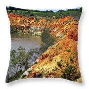 Red Eroded Soil Throw Pillow