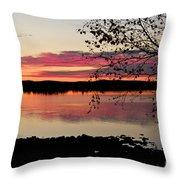 Red Evening Sky Throw Pillow