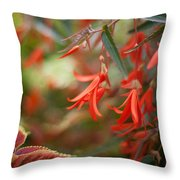 Red Exotic Throw Pillow