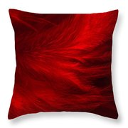 Red Feathers - 1 Throw Pillow