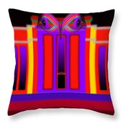 Red Fed Throw Pillow