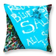 Red Fish Blue Fish Sale Throw Pillow