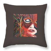Red Flare Throw Pillow