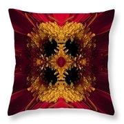 Red Flower Art Throw Pillow