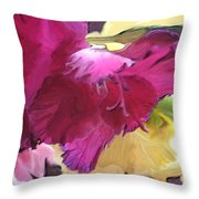 Red Flower In The Abstract Throw Pillow