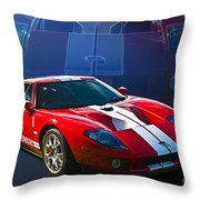 Red Ford Gt40 Throw Pillow