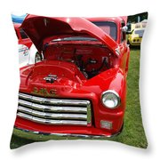 Red Gmc Throw Pillow