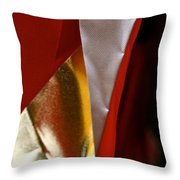 Red Gold And White Throw Pillow