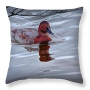 Red Headed Duck Throw Pillow