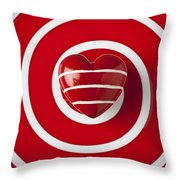 Red Heart Soft Stone Throw Pillow
